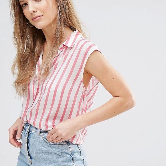 25cd45aa29de7d ASOS Tops | New Look Striped Blouse | Poshmark